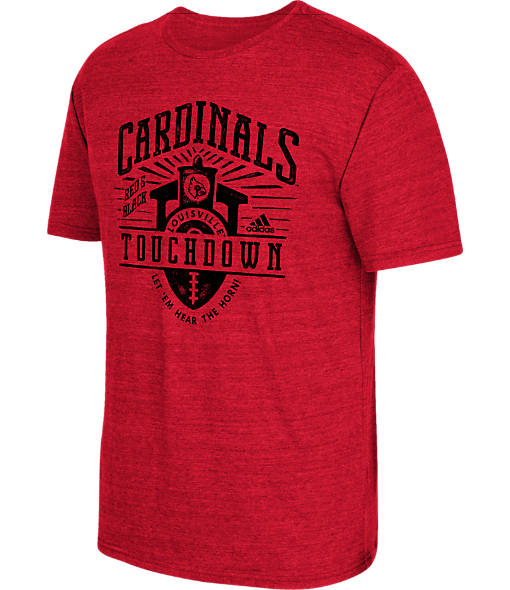 Men's adidas Louisville Cardinals College Traditional Tri-Blend T-Shirt