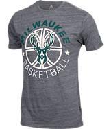 Men's adidas Milwaukee Bucks NBA Double Dribble Short-Sleeve T-Shirt