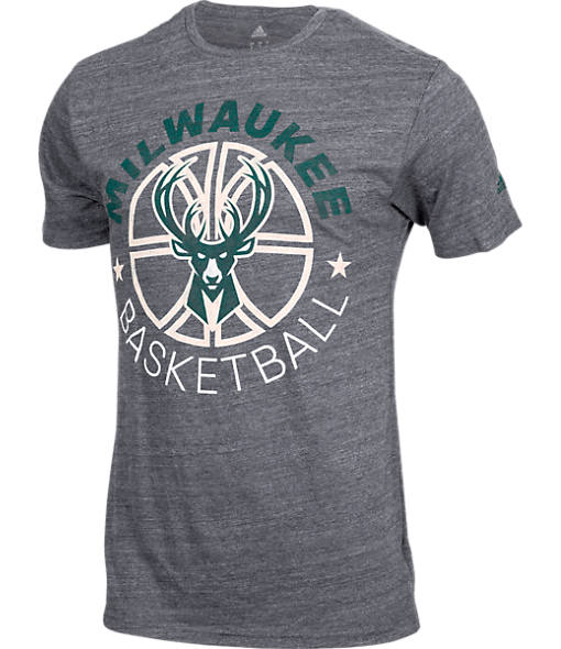 Men's adidas Milwaukee Bucks NBA Double Dribble Short-Sleeve T-Shirt