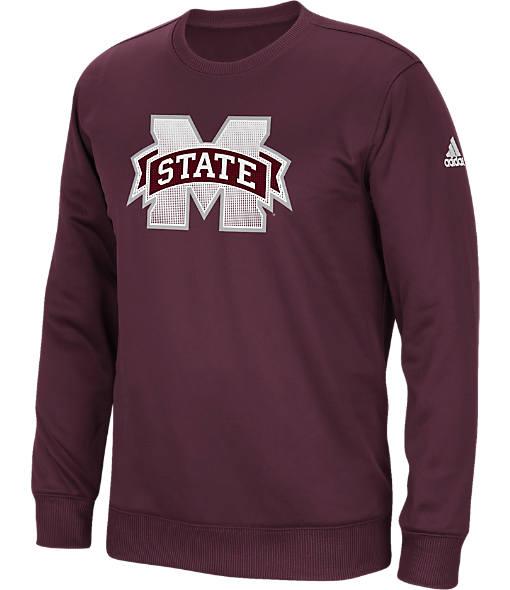 Men's adidas Mississippi State Bulldogs College Sideline Post Crew Sweatshirt