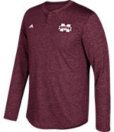 Men's adidas Mississippi State Bulldogs College Long-Sleeve Henley Shirt