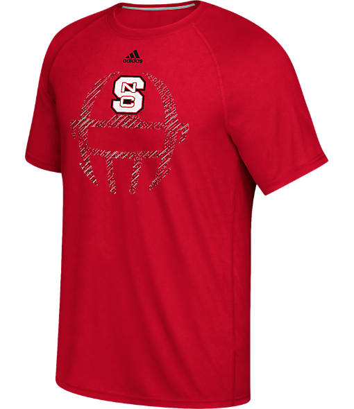 Men's adidas North Carolina State College Sideline Helmet T-Shirt
