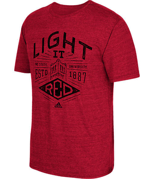 Men's adidas North Carolina State Wolfpack College Traditional Tri-Blend T-Shirt