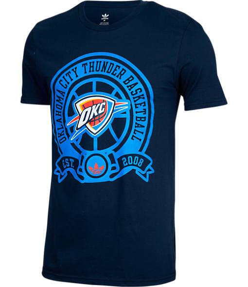 Men's adidas Oklahoma City Thunder NBA Retro Wrap T-Shirt