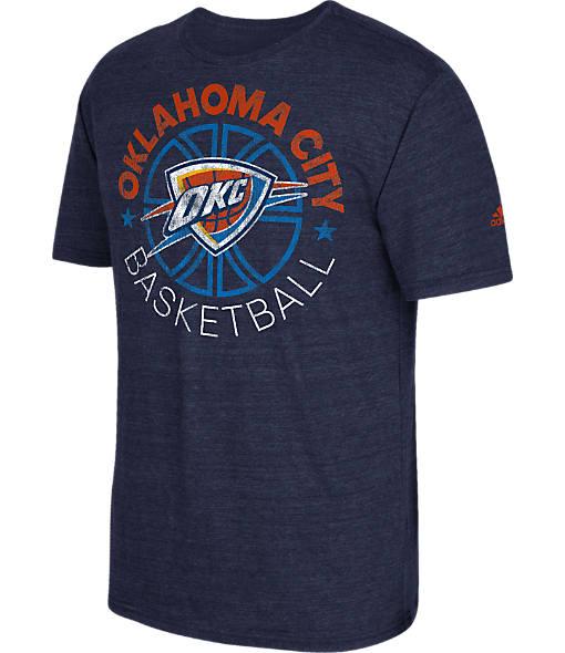 Men's adidas Oklahoma City Thunder NBA Double Dribble Short-Sleeve T-Shirt