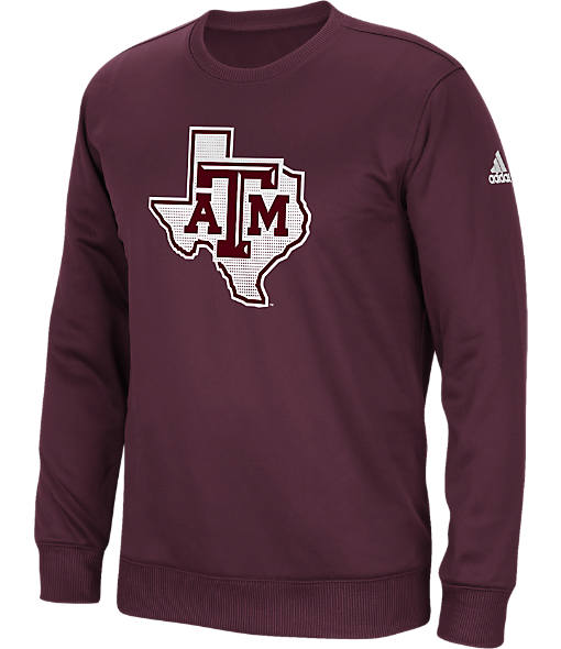 Men's adidas Texas A&M Aggies College Sideline Post Crew Sweatshirt