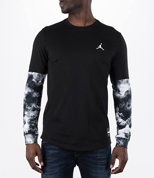 Men's Air Jordan Clouded Nightmare Long-Sleeve T-Shirt