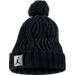 Front view of Jordan Jumpman Cable Pom Beanie in Black