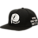 Front view of Air Jordan Retro 11 Snapback Hat in Black (White)