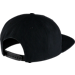 Back view of Jordan Air Stripe Snapback Hat in Black/White