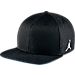 Front view of Air Jordan Retro 3 Snapback Hat in Black/White