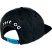 Back view of Air Jordan Retro 3 Snapback Hat in Black/White