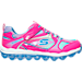 Right view of Girls' Preschool Skechers Air Bubble Beatz Training Shoes in Pink/Purple