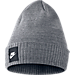 Front view of Nike Futura Beanie in Carbon Heather