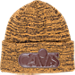 Front view of New Era Cleveland Cavaliers NBA Tonal Trick Knit Hat in Tan/Brown