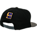 Back view of New Era Los Angeles Lakers NBA Rustic Vize Snapback Hat in Team Colors