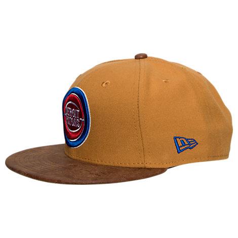 New Era NBA Rustic Vize Detroit Pistons Timberland Snapback Hat