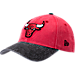 Front view of New Era Chicago Bulls NBA Rugged Canvas Adjustable Hat in Team Colors