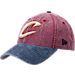 Front view of New Era Cleveland Cavaliers NBA Rugged Canvas Adjustable Hat in Team Colors
