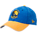 Front view of New Era Golden State Warriors NBA Rugged Canvas Adjustable Hat in Team Colors