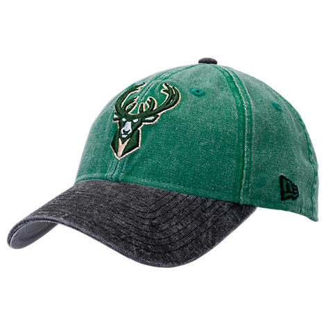 New Era Milwaukee Bucks NBA Rugged Canvas Adjustable Hat