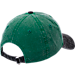 Back view of New Era Milwaukee Bucks NBA Rugged Canvas Adjustable Hat in Team Colors