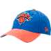 Front view of New Era New York Knicks NBA Rugged Canvas Adjustable Hat in Team Colors