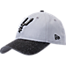 Front view of New Era San Antonio Spurs NBA Rugged Canvas Adjustable Hat in Team Colors