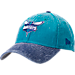 Front view of New Era Charlotte Hornets NBA Rugged Canvas Adjustable Hat in Team Colors