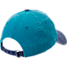 Back view of New Era Charlotte Hornets NBA Rugged Canvas Adjustable Hat in Team Colors