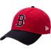 Front view of New Era Boston Red Sox MLB Classic 2 Tone Adjustable Hat in Team Colors