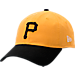 Front view of New Era Pittsburgh Pirates MLB Classic 2 Tone Adjustable Hat in Team Colors