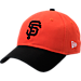 Front view of New Era San Francisco Giants MLB Classic 2 Tone Adjustable Hat in Team Colors
