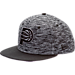 Front view of New Era Indiana Pacers NBA Terry Fresh Snapback Hat in Black