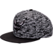 Front view of New Era Charlotte Hornets NBA Terry Fresh Snapback Hat in Black