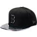 Front view of New Era Boston Red Sox MLB Twist Trick Snapback Hat in Black/Multi