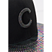 Back view of New Era Chicago Cubs MLB Twist Trick Snapback Hat in Black/Multi