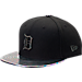 Front view of New Era Detroit Tigers MLB Twist Trick Snapback Hat in Black/Multi