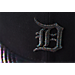 Back view of New Era Detroit Tigers MLB Twist Trick Snapback Hat in Black/Multi