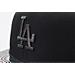 Back view of New Era Los Angeles Dodgers MLB Twist Trick Snapback Hat in Black/Multi