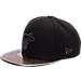 Front view of New Era Miami Heat NBA Trick Slick Snapback Hat in Black