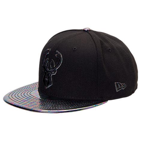 New Era Milwaukee Bucks NBA Trick Slick Snapback Hat