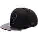Front view of New Era Milwaukee Bucks NBA Trick Slick Snapback Hat in Black