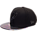 Front view of New Era San Antonio Spurs NBA Trick Slick Snapback Hat in Black
