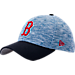 Front view of New Era Boston Red Sox MLB Terry Fresh 9FIFTY Adjustable Snapback Hat in Team Colors