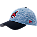 Front view of New Era Cleveland Indians MLB Terry Fresh 9FIFTY Adjustable Snapback Hat in Team Colors