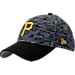 Front view of New Era Pittsburgh Pirates MLB Terry Fresh 9FIFTY Adjustable Snapback Hat in Team Colors