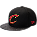 Front view of New Era Cleveland Cavaliers NBA Pebble Adjustable Back Hat in Black