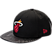 Front view of New Era Miami Heat NBA Pebble Adjustable Back Hat in Black