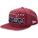 Front view of New Era Cleveland Cavaliers NBA Rugged Mark Snapback Hat in Maroon